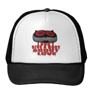 dont give a hoot bout love owl trucker hat