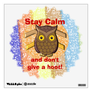 Don't Give A Hoot Wall Sticker