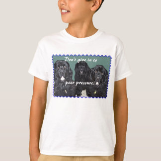 Don't give in to Peer Pressure! kids tee