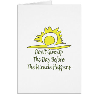 Don't Give Up Card