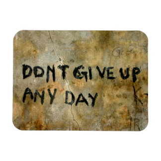 Don't Give Up Graffiti Rectangular Photo Magnet