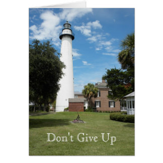 Don't Give Up Lighthouse Photo Card