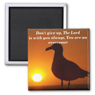 Don't give up!_ refrigerator magnet