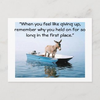 Don't give up postcard