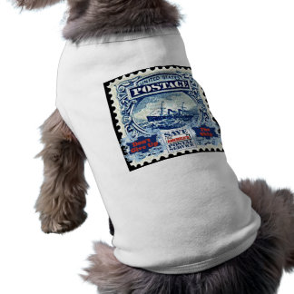 Don't Give Up The Ship Doggie T Shirt