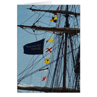 Don't Give Up The Ship Flag Card