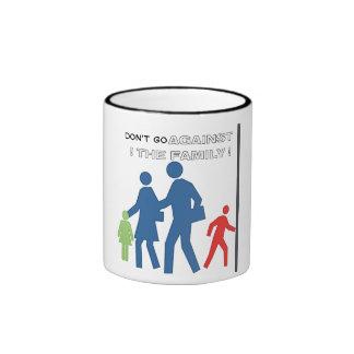 Don't go against the FAMILY Ringer Coffee Mug