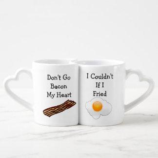 Don't Go Bacon My Heart Funny V2 Coffee Mug Set