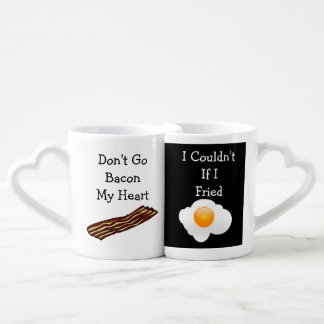 Don't Go Bacon My Heart Funny V2 Couples' Coffee Mug Set
