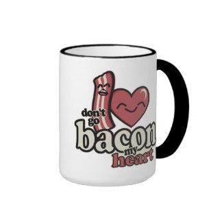 Don't go Bacon my Heart Ringer Coffee Mug