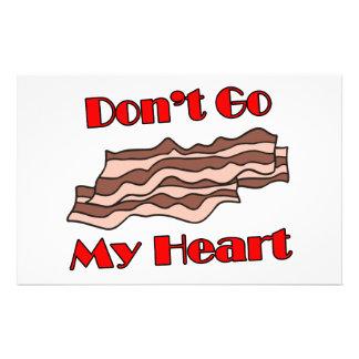 Don't Go Bacon My Heart Stationery
