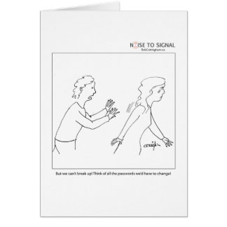 Don't go... greeting card