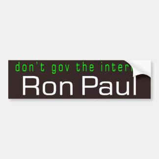don't gov the internet car bumper sticker