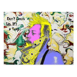 Don't Grow up Postcard