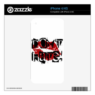 DONT HATE iPhone 4S SKINS