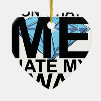 Dont Hate Me Hate My Swag T-Shirts JK.png Double-Sided Heart Ceramic Christmas Ornament