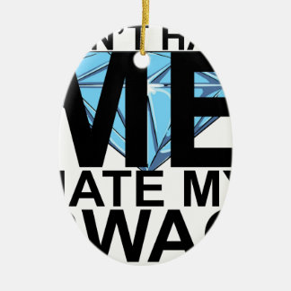 Dont Hate Me Hate My Swag T-Shirts JK.png Double-Sided Oval Ceramic Christmas Ornament