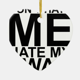 Dont Hate Me Hate My Swag T-Shirts K.png Double-Sided Heart Ceramic Christmas Ornament