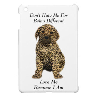 Don't Hate Me..Love Me! Puppy Dog Leopard Print iPad Mini Cover