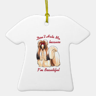 DONT HATE ME Double-Sided T-Shirt CERAMIC CHRISTMAS ORNAMENT