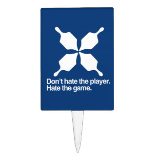 DON'T HATE THE DREIDEL PLAYER CAKE TOPPER