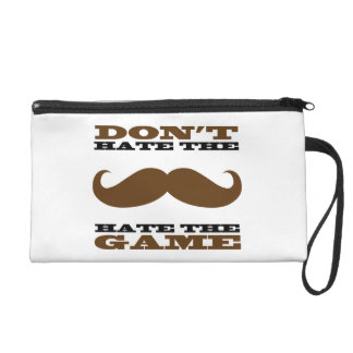 Don't Hate The Mustache Wristlet