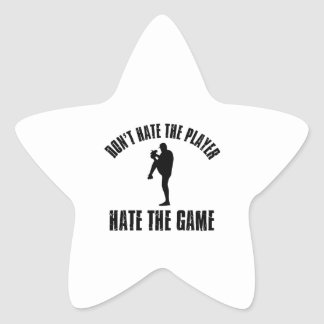 Don't hate the player Funny Baseball designs Star Stickers