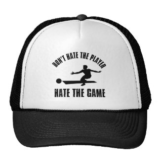 Don't hate the player Funny Bowling designs Trucker Hat
