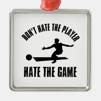 Don't hate the player Funny Bowling designs Metal Ornament