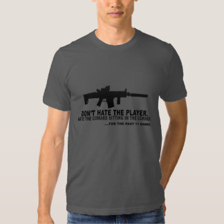 Don't hate the player, hate the camper t shirt