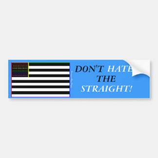 DON'T HATE THE STRAIGHT! BUMPER STICKER