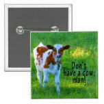 Don't Have A Cow Pinback Button