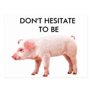 DON'T HESITATE TO BE... POSTCARD