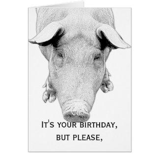 Don't Hog the Cake - Happy Birthday Cards
