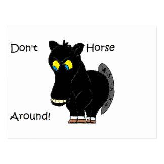 Don't Horse Around Postcard