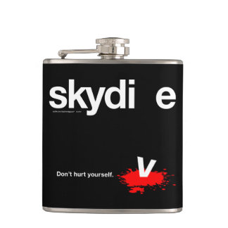 Don't Hurt Yourself Skydiver Flasks