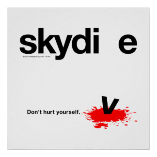 Don't Hurt Yourself Skydiver Poster