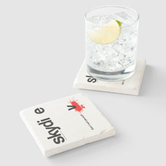 Don't Hurt Yourself Skydiver Stone Coaster