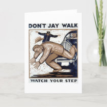 Don't Jay Walk 1937 WPA Card