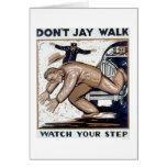 Don't Jay Walk 1937 WPA Card