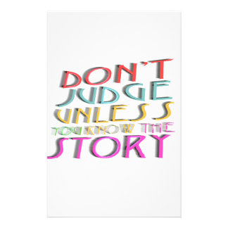 Don't judge collection stationery