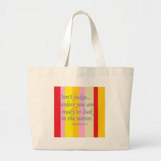 Don't Judge Large Tote Bag