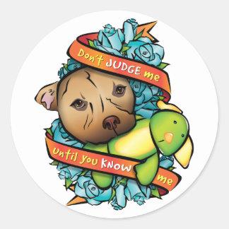 Don't Judge Me... Classic Round Sticker