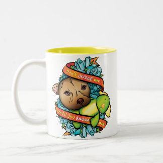 Don't Judge Me... Two-Tone Coffee Mug