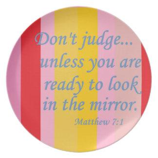 Don't Judge Melamine Plate