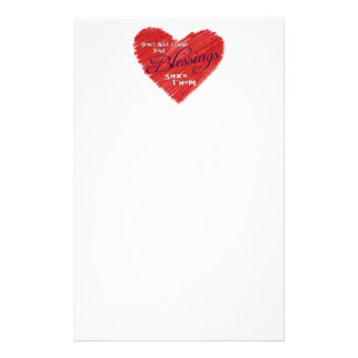 Don't Just Count Your Blessings, Share Them Customized Stationery