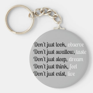 Don't Just Look - Typography Design Basic Round Button Keychain