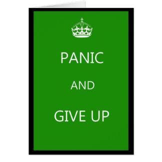 Don't Keep Calm Card