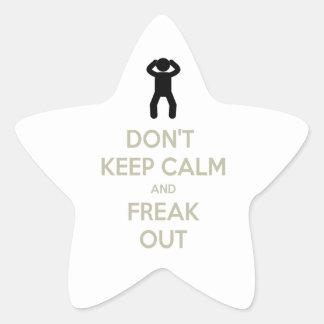 Don't keep calm star sticker