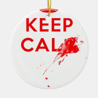 Don't Keep Calm (with gunshot).jpg Ceramic Ornament